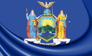 3D Flag of New York State