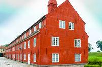 typical Danish houses in Copenhagen city Denmark