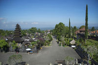 Long shot showing capmus of Pura besakih temple, Indonesia