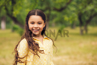 Cute little girl out in nature.