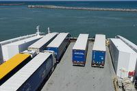 Fährhafen von Hirtshals mit Fähre nach Norwegen
