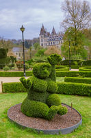 Bush sculpture in park - Durbuy Belgium