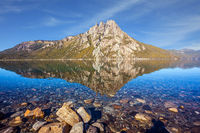 The mirror water of shallow lake