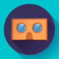 cardboard virtual reality glasses vector icon.