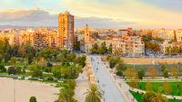 Valencia cityscape, Spain