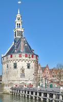 Hoofdtoren in Hoorn am Markermeer,Teilgebiet im Ijsselmeer,Niederlande