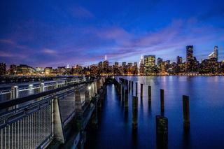 Sunset at Midtown Manhattan Skyline, New York United States