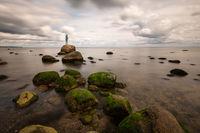 Skulptur im Meer