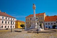 Holy trinity square in Tvrdja historic town of Osijek