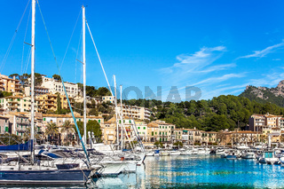 At the Harbor of Port de Soller Mallorca Spain