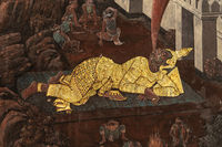 Gold giant in Wat Phra Kaew murals