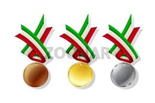 Italian vector medals set