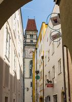 Narrow street in Passau