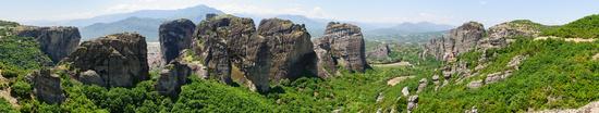 Panorama of Meteora, Greece