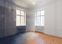 empty room renovation concept - before and after  -