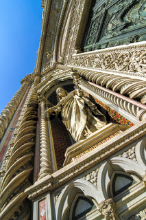 Statues of the Cathedral of Santa Maria in Florence