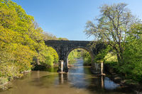 Road bridge over River Torridge near Torrington in Devon