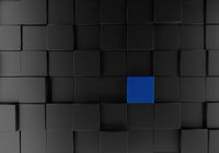 Black cubes background