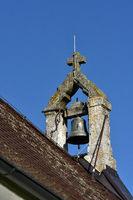 Glockenstuhl auf der Salmendinger Kapelle auf dem Kornbuehl; Schwabische Alb