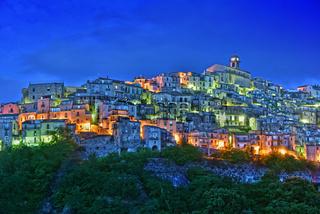 The village of Badolato in the Province of Catanzaro