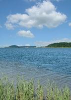 die Having,Teil des Ruegischen Bodden auf Ruegen,Ostsee,Mecklenburg-Vorpommern,Deutschland