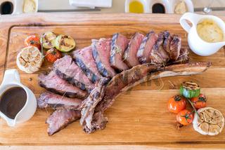 Grilled tomahawk steak