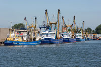 Fishing cutters in harbor Vlissingen, The Netherlands