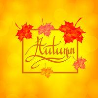 Autumn Calligraphy. Seasonal Lettering