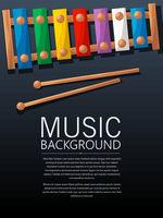 Xylophone music background