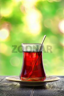 Glass of turkish tea