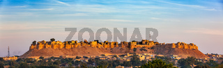 Panorama of Jaisalmer Fort known as the Golden Fort Sonar quila,