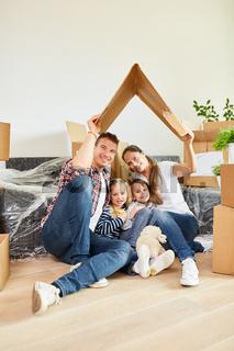 Eltern und Kinder unter einem Dach