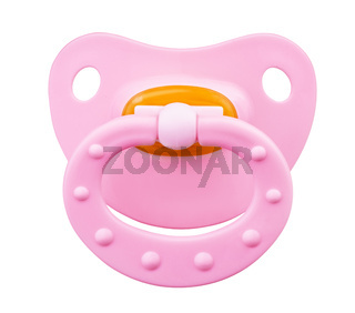 Pink orthodontic pacifier