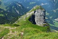 Bregenzerwald; Blick von der Kanisfluh auf Hoher Stoß;