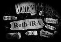 Roth IRA retirement concept