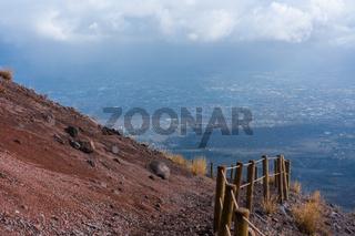 trail on a mountainside