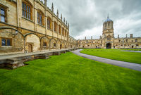 Tom Quad. Christ Church.  Oxford University. England
