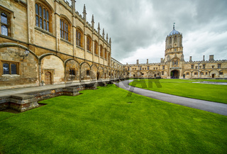 Tom Quad. Christ Church.  Oxford University. England