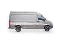 Driving van isolated on white background