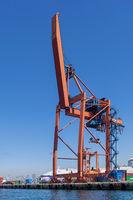 Crane at the shipyard of the Port of Haydarpasha, Istanbul, Turkey