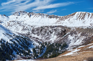 Independence Pass in Rocky Mountains