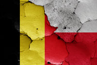 flags of Belgium and Poland