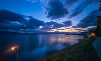 Sunset over Lake Ohrid