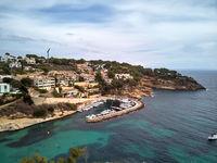 Cala del Mago coastline in Mallorca. Spain