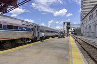 Amtrak train arrived to Kansas City station