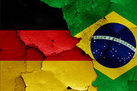 flags of Germany and Brazil