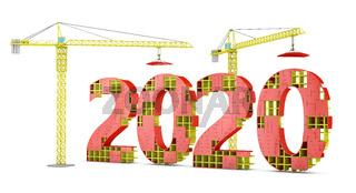 tower cranes building 2020