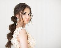 Portrait of beautiful young brunett woman