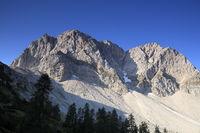 Gebirgsgipfel in den Alpen