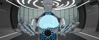 Humanoid Robot Brain Futuristic Room